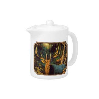 Trophy Bull Elk in Autumn Teapot