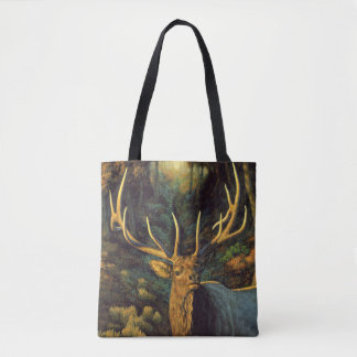 Trophy Bull Elk in Autumn Tote Bag