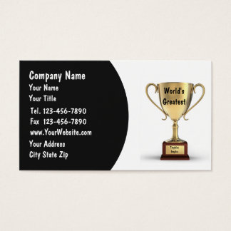 Trophy Business Cards