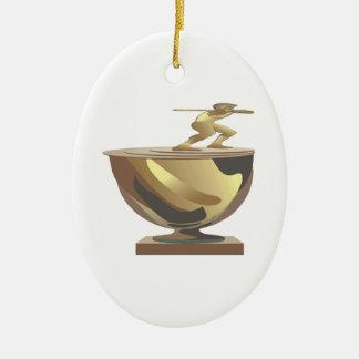 Trophy Ceramic Ornament
