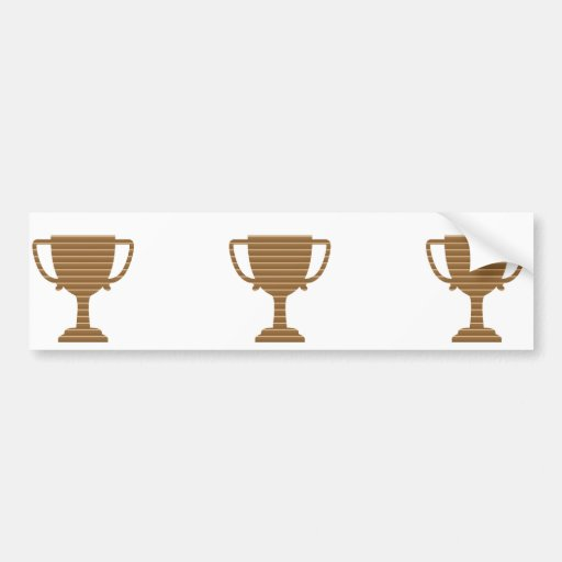 Trophy Cup Award Games Sports Competition NVN280 Bumper Stickers