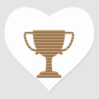 Trophy Cup Award Games Sports Competition NVN280 Heart Sticker