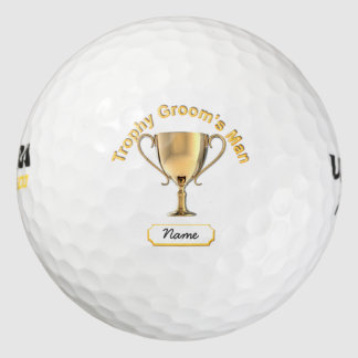 Trophy Cup for a Trophy 'Groom's Man'. Golf Balls
