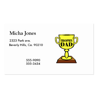 Trophy Dad Double-Sided Standard Business Cards (Pack Of 100)