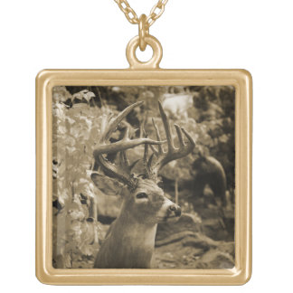 Trophy Deer Gold Plated Necklace