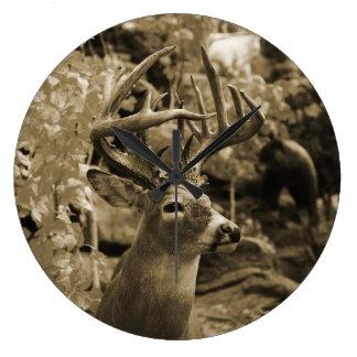 Trophy Deer Large Clock