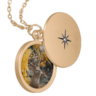 Trophy Deer Locket Necklace