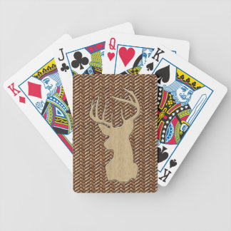 Trophy Deer with Antlers Bicycle Playing Cards