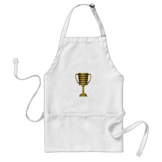 TROPHY GOLD: Business Success, Competition, Sports Adult Apron