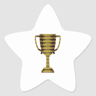 TROPHY GOLD: Business Success, Competition, Sports Star Sticker