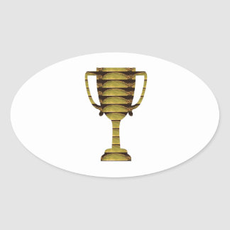 TROPHY GOLD: Business Success, Competition, Sports Oval Sticker