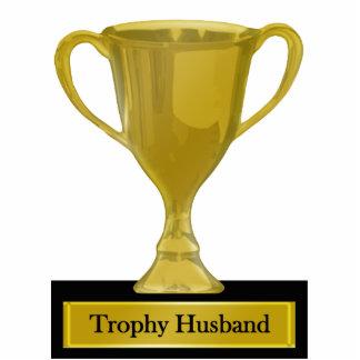 Trophy Husband Award Standing Photo Sculpture