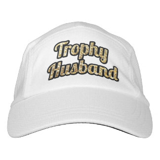 Trophy Husband Black and Gold Glittery Hat