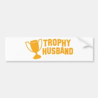 trophy husband car bumper sticker