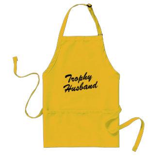Trophy Husband   Funny BBQ apron for men