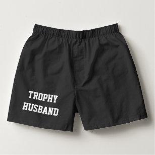 5416d484c TROPHY HUSBAND funny boxer shorts for men