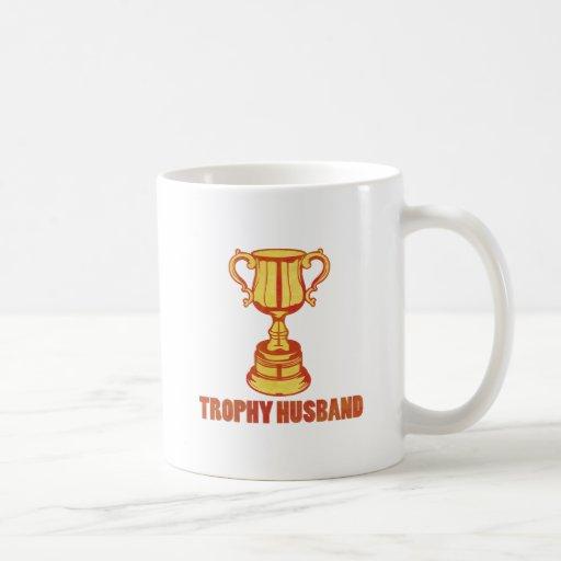 Trophy Husband, funny+mens+gifts Coffee Mugs