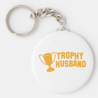 trophy husband keychain