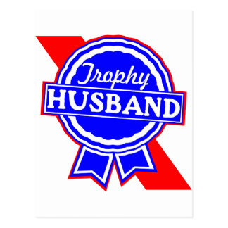 Trophy Husband Postcard