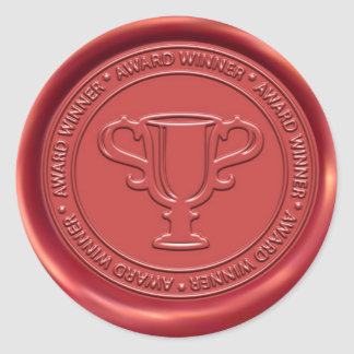 Trophy Sign Wax Seal Classic Round Sticker