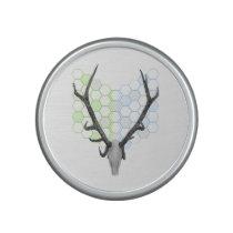 Trophy stag antlers geometric pattern speaker