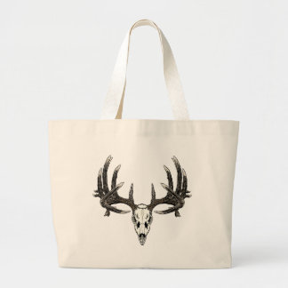 Trophy Whitetail buck Large Tote Bag