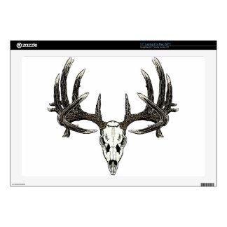 """Trophy Whitetail buck 17"""" Laptop Skins"""