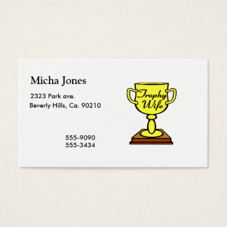 Trophy Wife Business Card