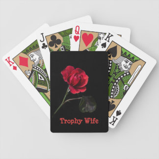 Trophy Wife Rose Playing Cards