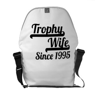 Trophy Wife Since 1995 Courier Bag