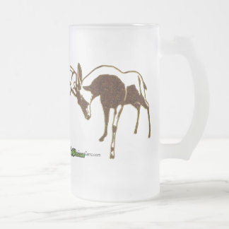 TrophyBucks Ready To Own Frosted Glass Beer Mug
