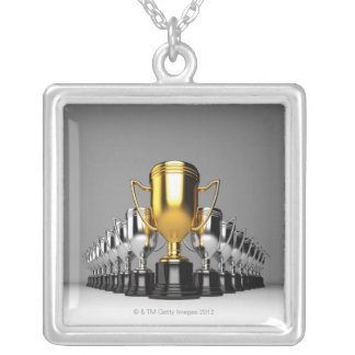 Trophys de plata 3 colgantes