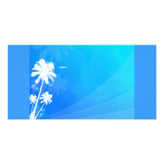Tropic abstract photo card