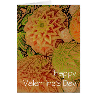 Tropic Blooms Valentine's Day Card