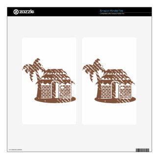 Tropic grungy hut / cabin vector decals for kindle fire