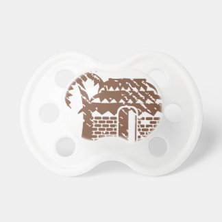 Tropic grungy hut / cabin vector pacifier