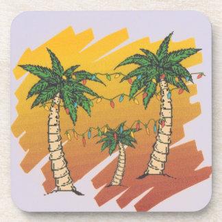 Tropic Hawaiian Christmas Cork Coasters
