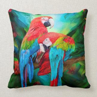 Tropic Spirits - Macaws Art Designer Pillow