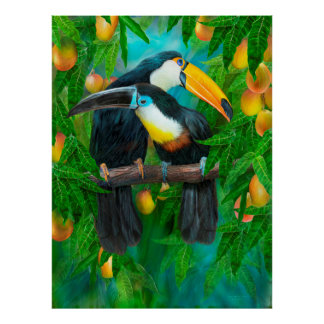 Tropic Spirits - Toucans Fine Art Poster/Print Poster