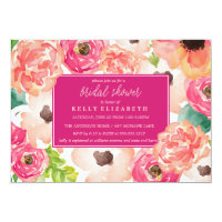TROPIC WATERCOLOR FLORAL bridal shower invitation