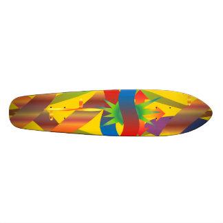 Tropical 70's skateboard deck