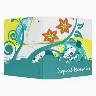 Tropical Abstract Binder