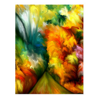 Tropical Abstract by rafi talby Post Card