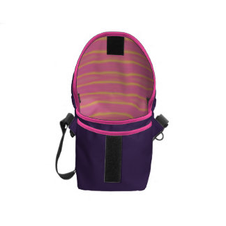 Tropical Abstract Pastel Stripes Messenger Bags