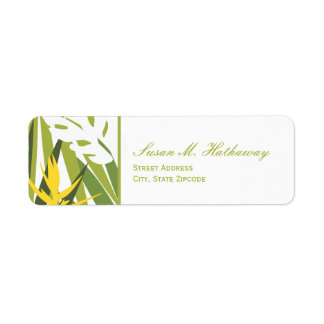 Tropical Address Label - Green and Yellow