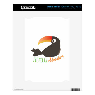 Tropical Adventure Decal For NOOK