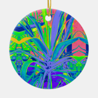 Tropical Agave Modern art Gifts Ceramic Ornament