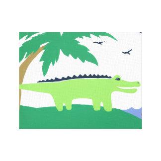 Tropical Alligator Art for Kids Safari Sky Look Canvas Prints