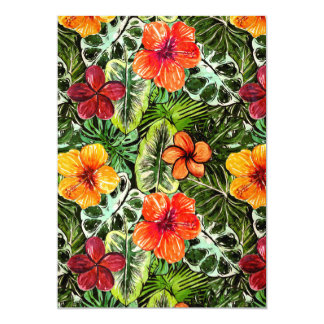 Tropical Aloha  Exotic Jungle Flowers Card