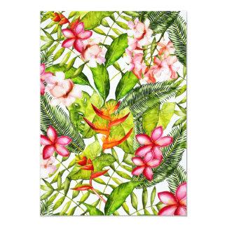 Tropical Aloha  Exotic & Tropical Jungle Flowers Card